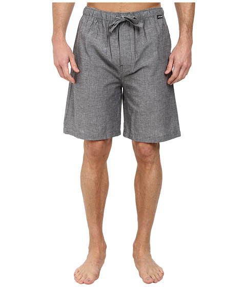 Jockey - Chambray Sleep Shorts (Solid Grey) Men's Pajama