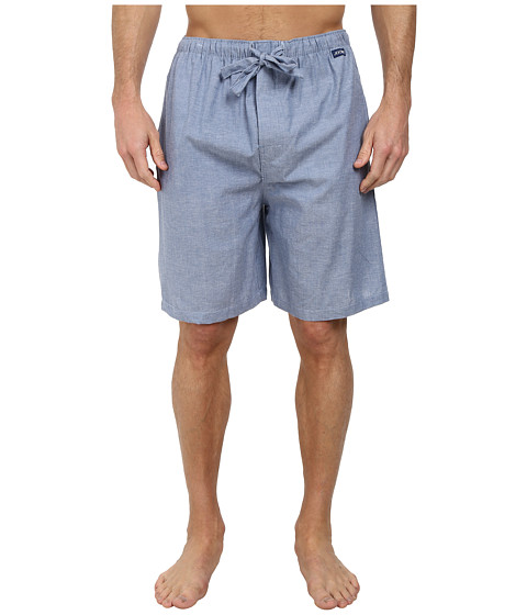 Jockey - Chambray Sleep Shorts (Solid Blue) Men's Pajama