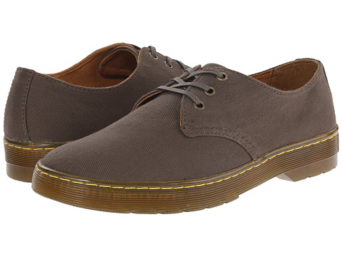 Dr. Martens - Delray 3-Eye (Olive Overdyed Twill Canvas) Men