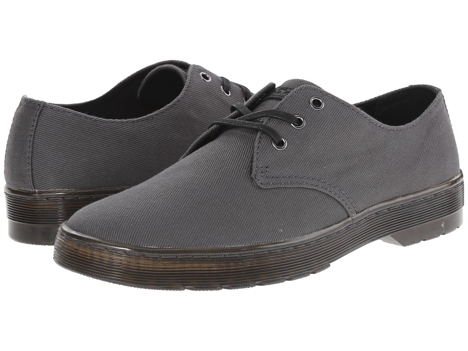 Dr. Martens - Delray 3-Eye (Lead Overdyed Twill Canvas) Men's Lace up casual Shoes