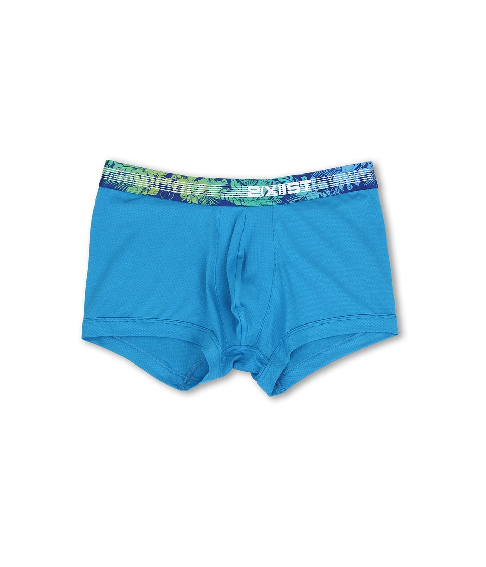 2(X)IST - Tropic No Show Trunk (Methyl Blue) Men's Underwear