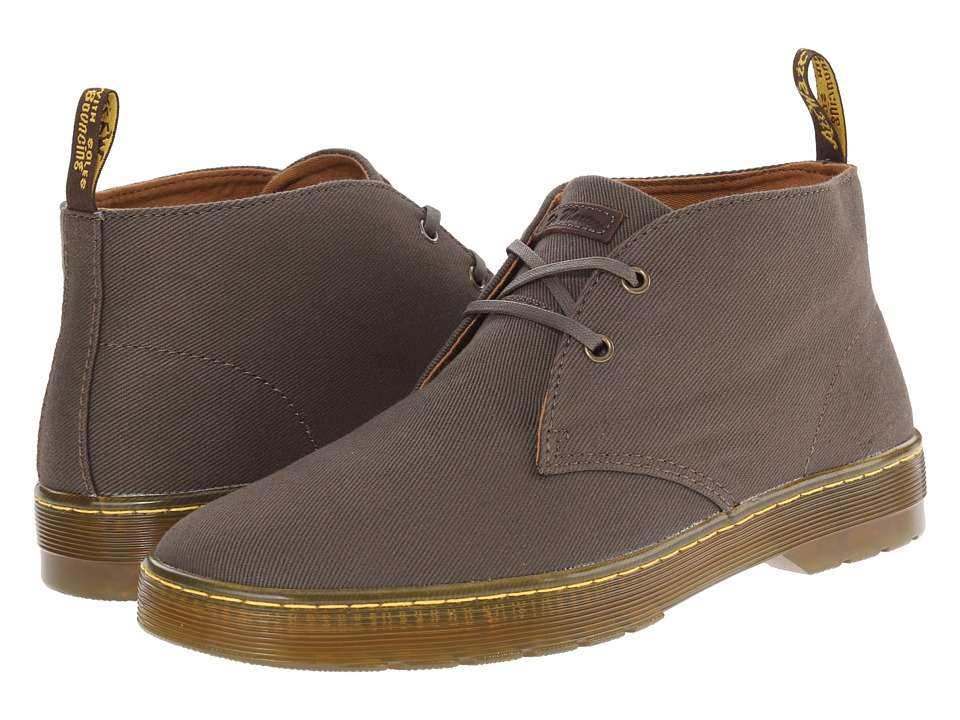 Dr. Martens Mayport 2-Eye Desert Boot (Olive Overdyed Twill Canvas) Men