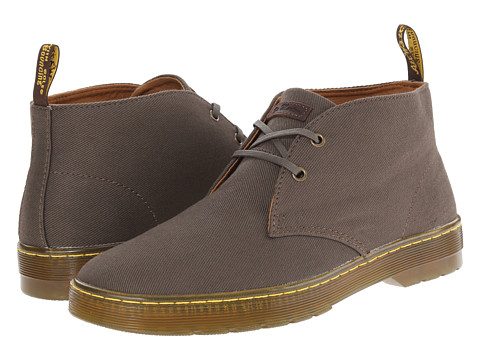 Dr. Martens - Mayport 2-Eye Desert Boot (Olive Overdyed Twill Canvas) Men's Lace-up Boots