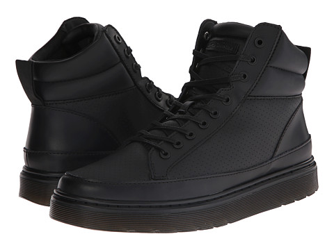 Dr. Martens - Lamar (Black Lamper/Micro Perfed PU) Men's Shoes