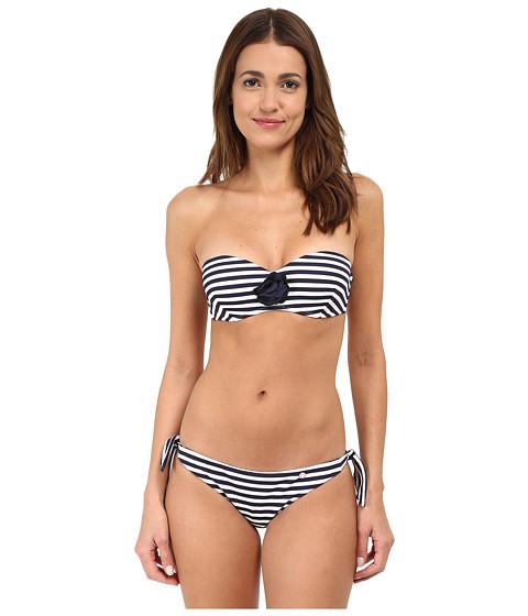 Emporio Armani - Sail Away Knit Bikini (White/Navy Blue) Women