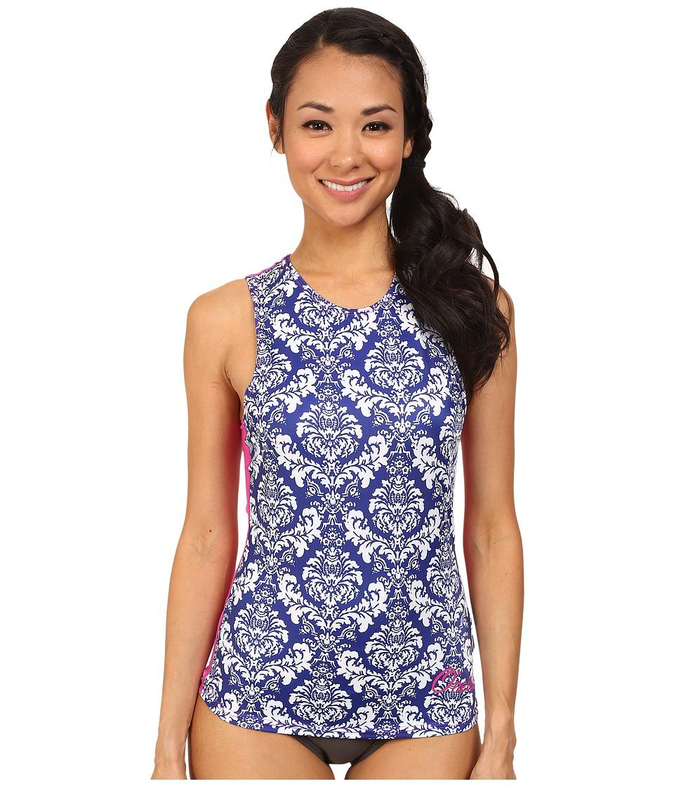 O'Neill - Print Surf Tank Top (Tinafleur/Berry/Cobalt) Women's Swimwear