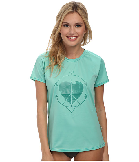 O'Neill - Graphic Short Sleeve Rash Tee (Spyglass/Emerald) Women's Swimwear
