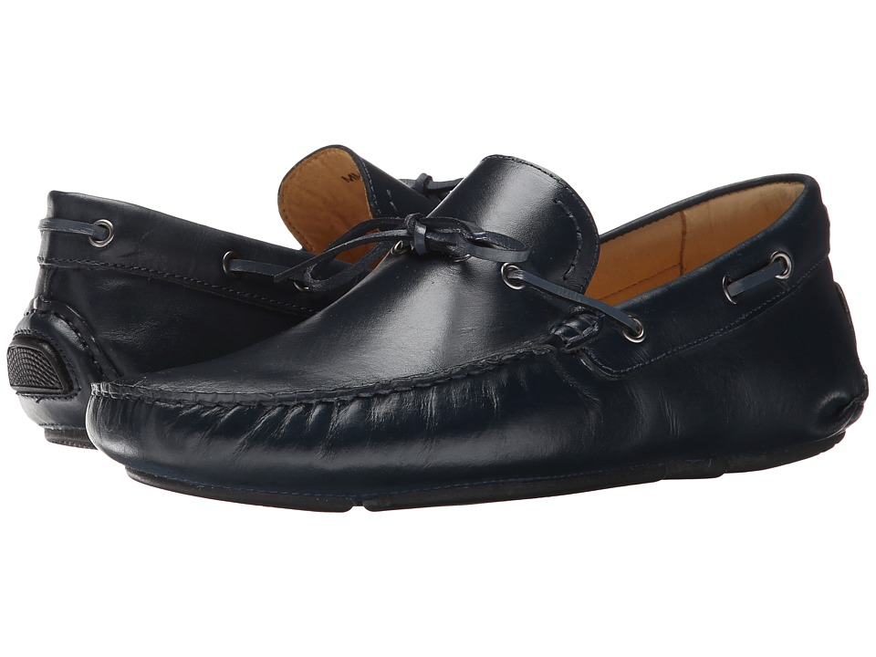 Massimo Matteo - Driver with Lace (Navy) Men's Flat Shoes