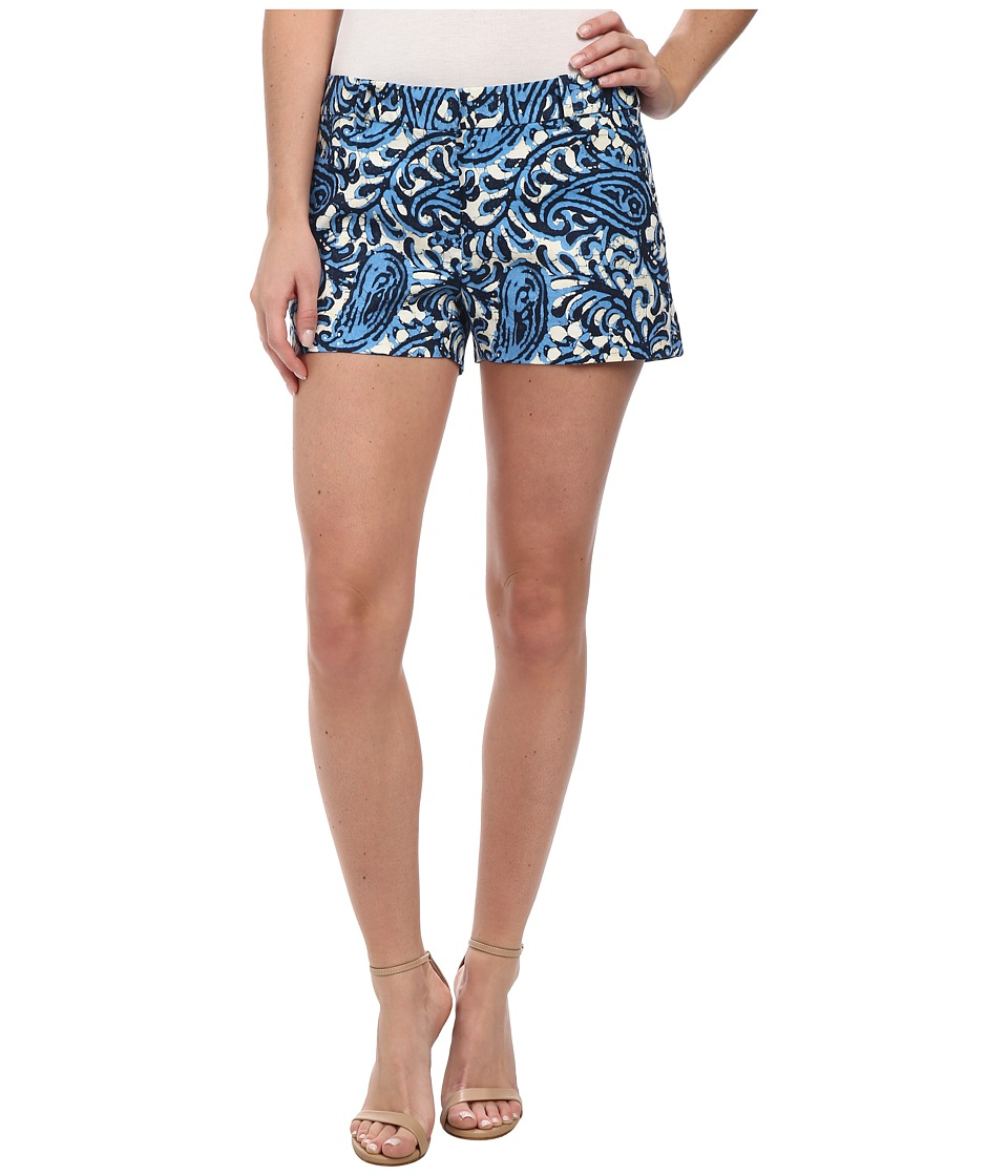 MICHAEL Michael Kors - Printed Mini Shorts (Heritage Blue) Women's Shorts