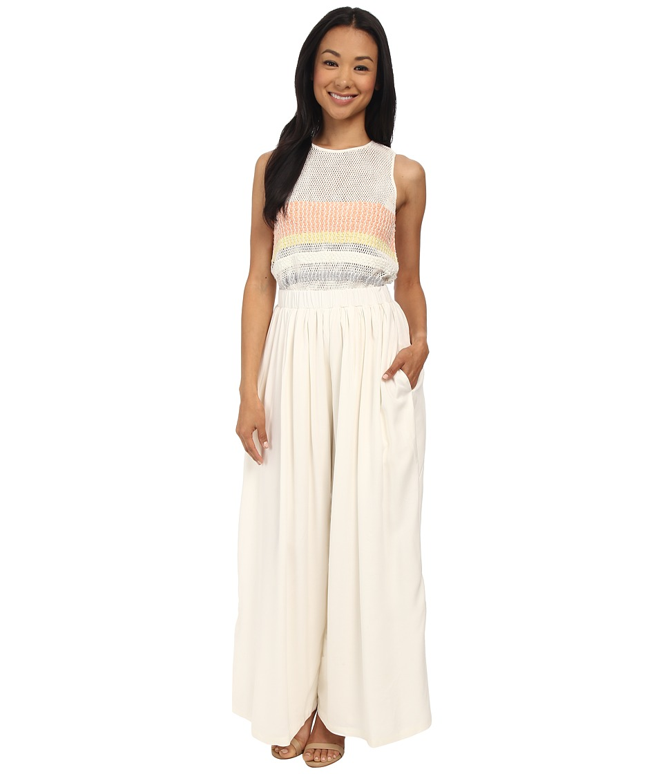Mara Hoffman - Embellished Jumpsuit (White) Women's Jumpsuit & Rompers One Piece