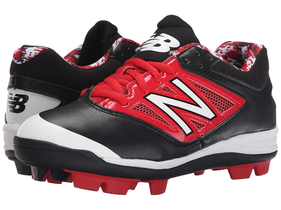 New Balance Kids - J4040V3 Baseball (Little Kid/Big Kid) (Black/Red) Kids Shoes