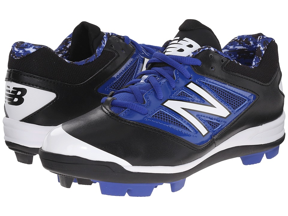 New Balance Kids - J4040V3 Baseball (Little Kid/Big Kid) (Black/Blue) Kids Shoes
