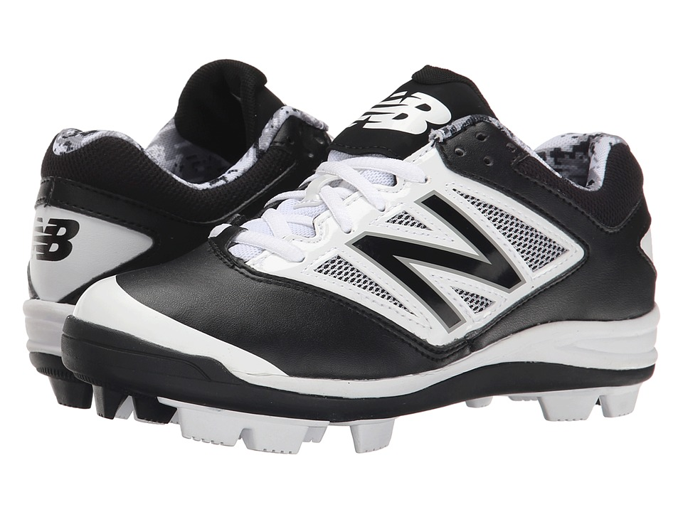 New Balance Kids - J4040V3 Baseball (Little Kid/Big Kid) (Black/White) Kids Shoes