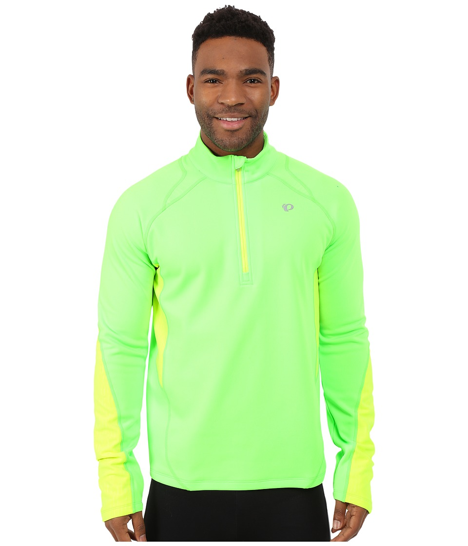 Pearl Izumi - Fly Thermal Run Top (Screaming Green/Screaming Yellow) Men's Clothing