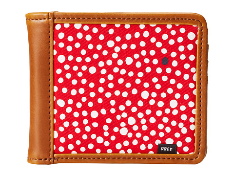 Obey - Journey Bi-Fold Wallet (Red Multi) Wallet Handbags