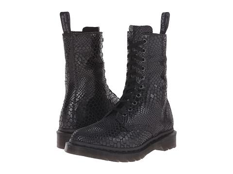 Dr. Martens - Alix (Black Hi Shine Snake) Women's Work Zip Boots