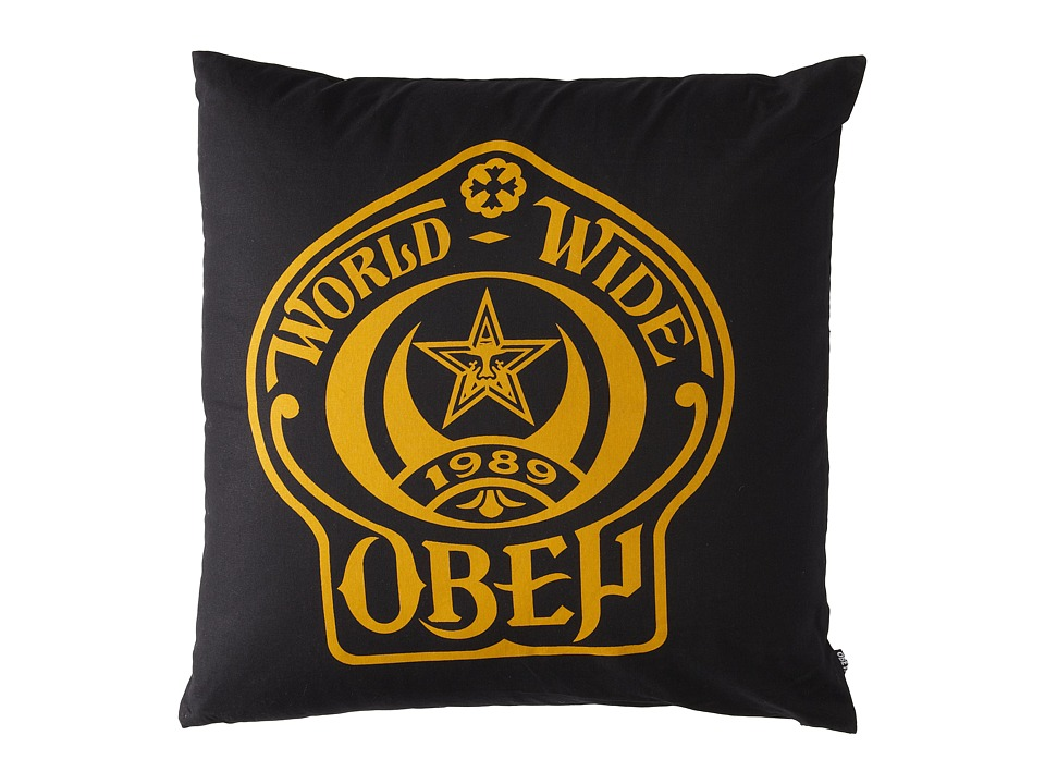 Obey - Obey Shield Pillow (Black) Sheets Bedding