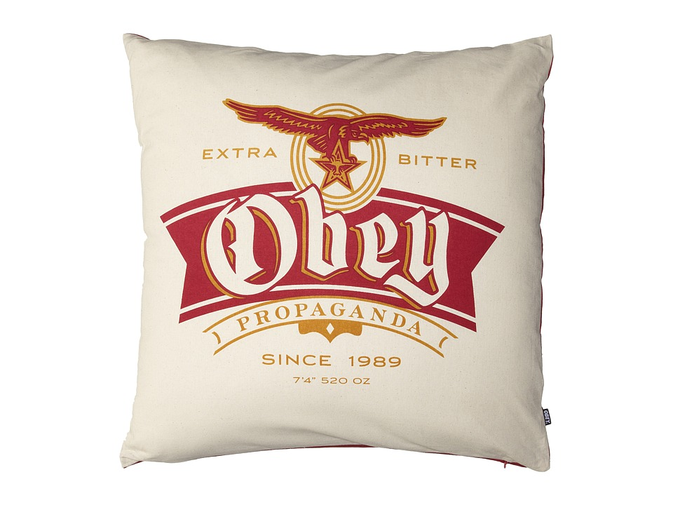 Obey - Extra Bitter Pillow (Cream) Sheets Bedding