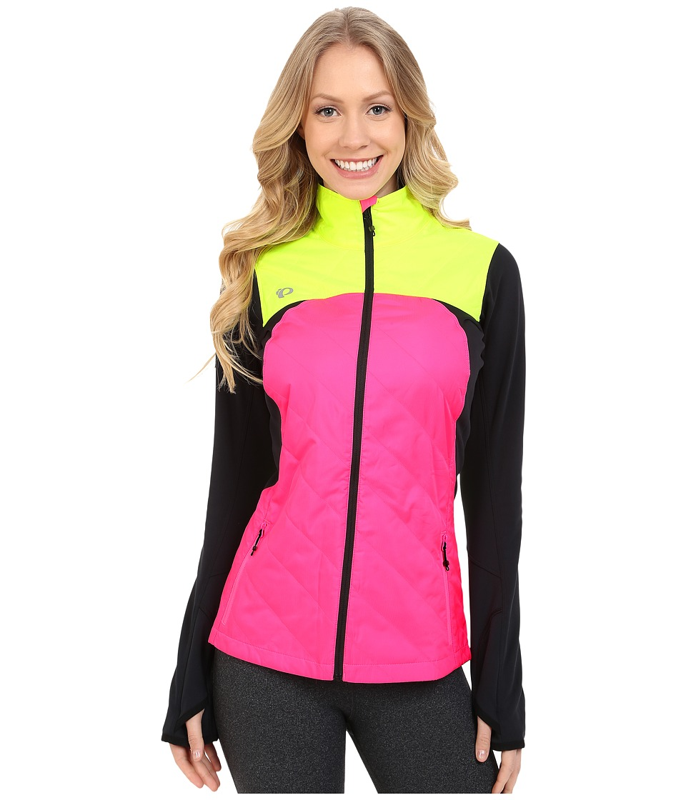 Pearl Izumi - Flash Insulator Run Jacket (Screaming Pink/Screaming Yellow) Women's Workout