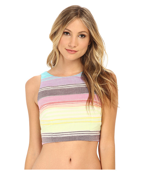Mara Hoffman - Crop Top (Rainbow Stripe) Women's Sleeveless