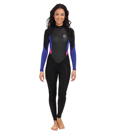 O'Neill - Bahia FL 3/2 (Black/Cobalt/Berry) Women's Wetsuits One Piece