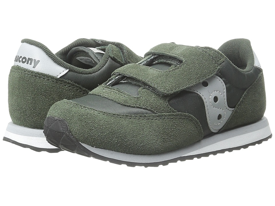 Saucony Kids - Jazz HL (Toddler/Little Kid) (Green/Grey) Boys Shoes