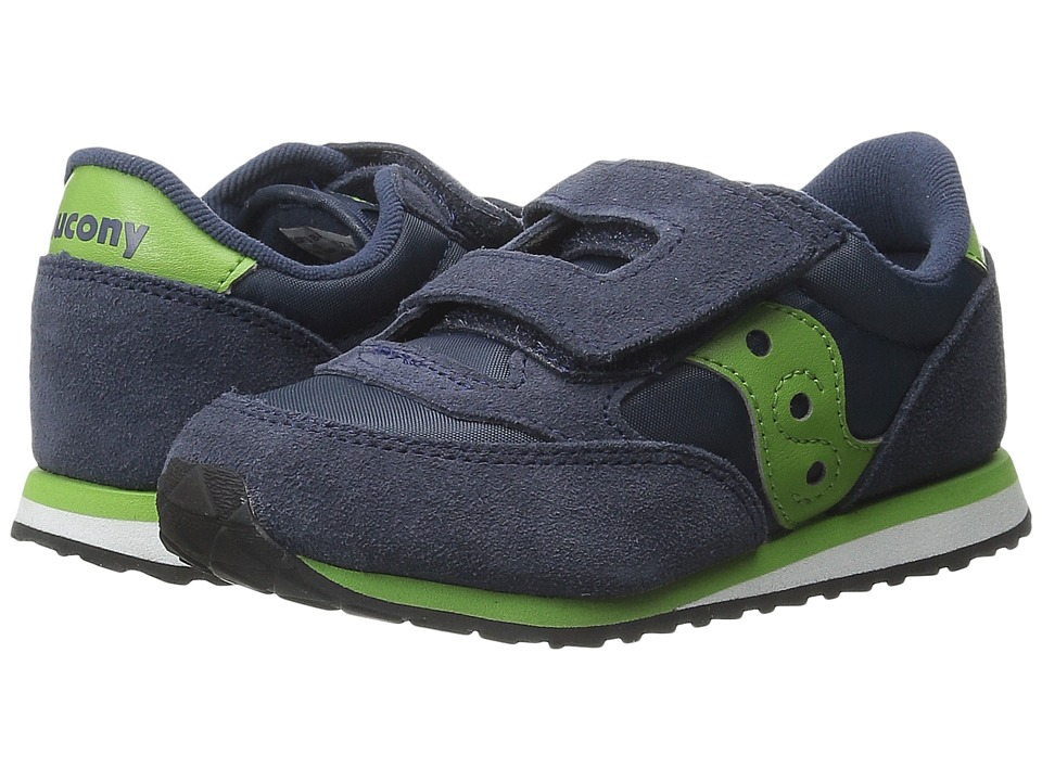 Saucony Kids - Jazz HL (Toddler/Little Kid) (Navy/Green) Boys Shoes