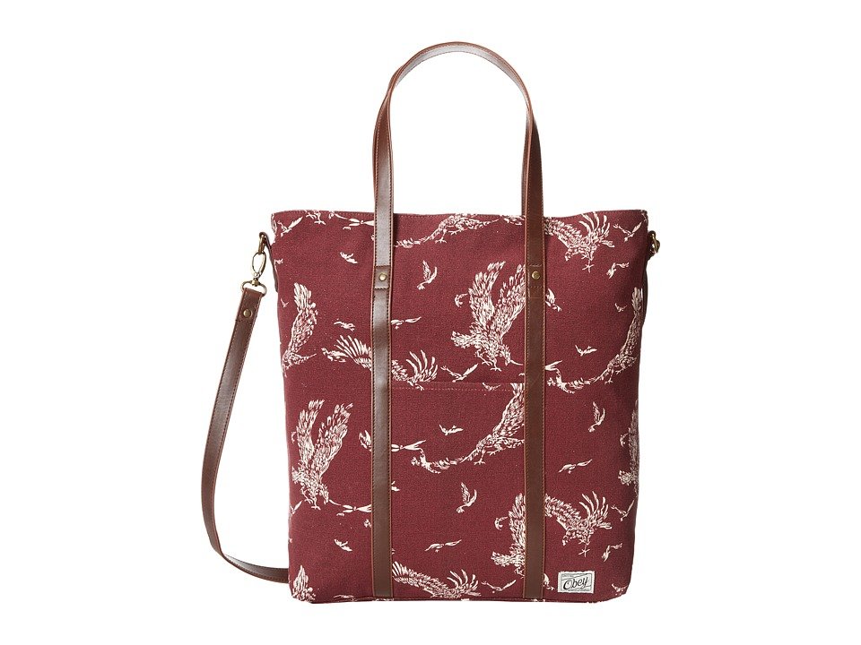 Obey - Wyatt Tote (Burgundy) Tote Handbags