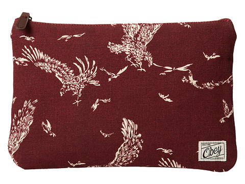 Obey - Wyatt Clutch Pouch (Burgundy) Clutch Handbags