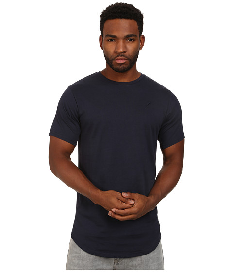 Publish - Shelby Premium Jersey Short Sleeve Crew Neck with Scallop Bottom and 1 X 1 Ribbing Panels At Sleeve and Side Seam (Navy) Men