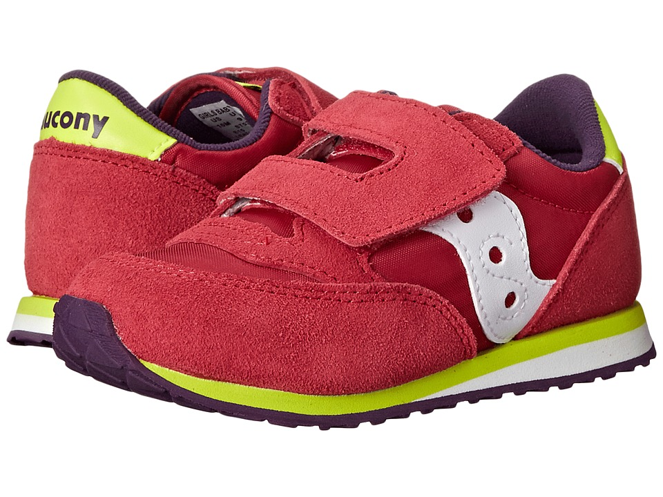 Saucony Kids - Jazz HL (Toddler/Little Kid) (Pink/Purple/Citron) Girls Shoes