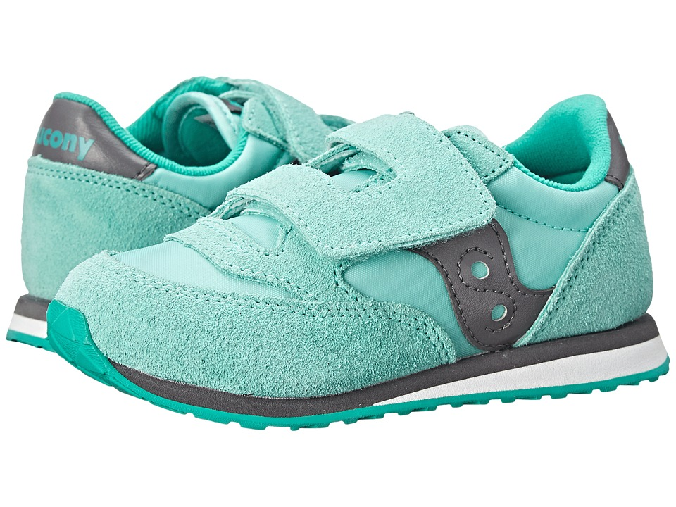 Saucony Kids - Jazz HL (Toddler/Little Kid) (Turquoise/Grey) Girls Shoes