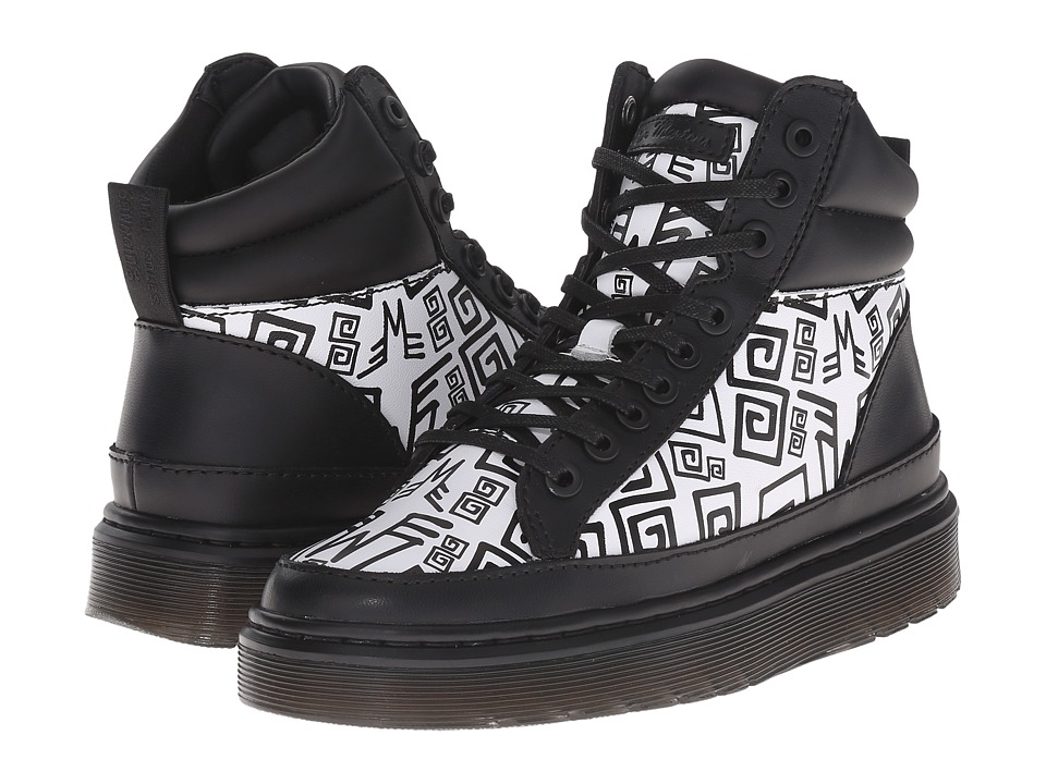 Dr. Martens Kendrick (Black/White/Black Lamper/Urban Aztec Printed Softy T) Men