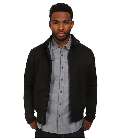 Publish - Nile Brushed Poplin Barracuda Inspired Jacket Zippers At Center Waist and Leeve Opening (Black) Men