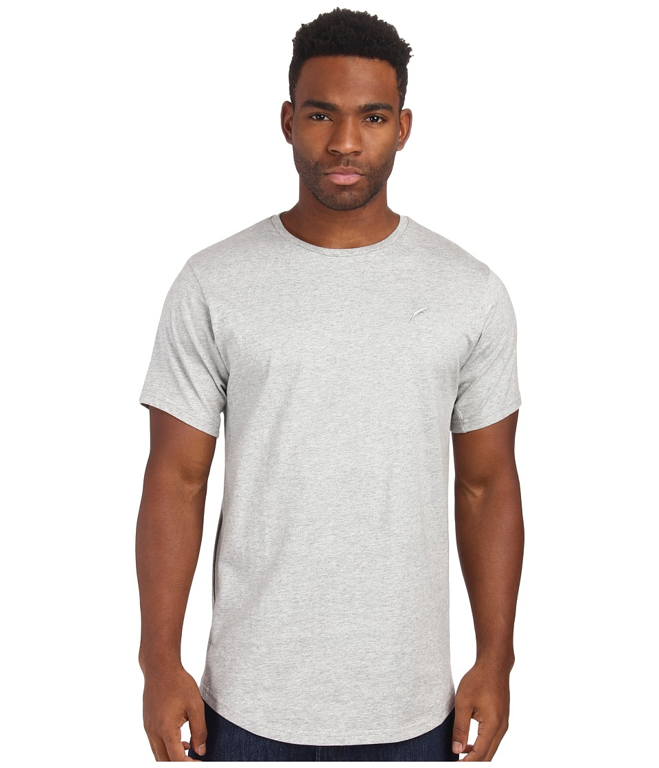 Publish - Shelby Premium Jersey Short Sleeve Crew Neck with Scallop Bottom and 1 X 1 Ribbing Panels At Sleeve and Side Seam (Heather) Men's T Shirt