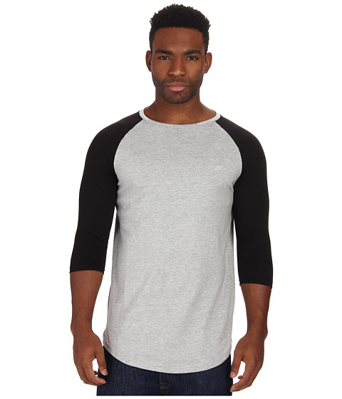 Publish - Felix Premium Jersey Raglan 3/4 Sleeve Crew Neck Scallop Bottom (Heather) Men's Clothing