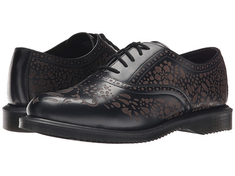 Dr. Martens - Aila (Black Polished Smooth) Women's Shoes