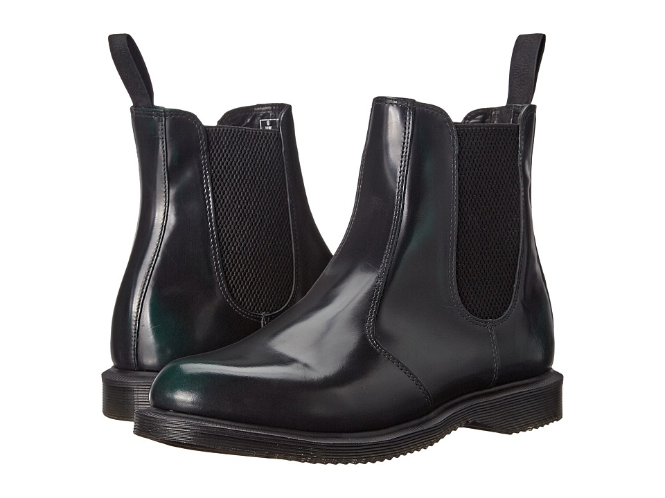 Dr. Martens - Flora Chelsea Boot (Green Arcadia) Women's Lace-up Boots