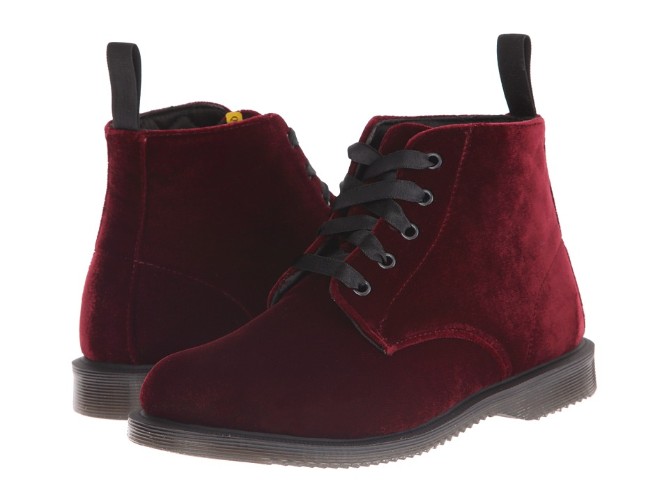 Dr. Martens - Lana (CHERRY RED ZE YOU VELVET) Women's Shoes