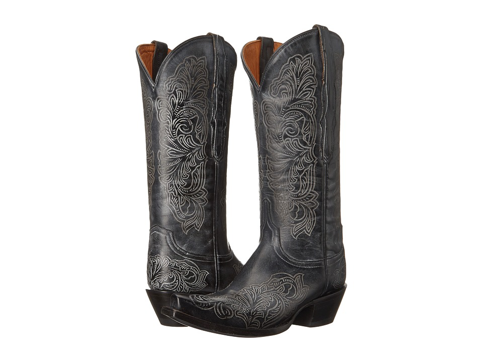 Lucchese - Charity (Black) Cowboy Boots