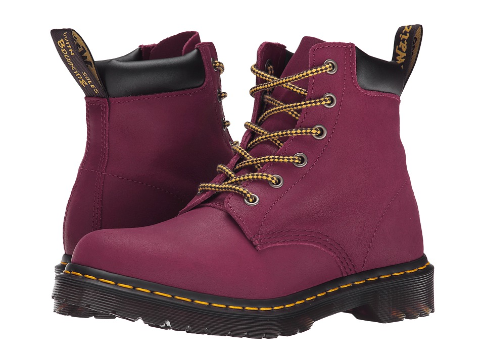 Dr. Martens - 939 (Deep Red Greasy Suede) Women's Shoes