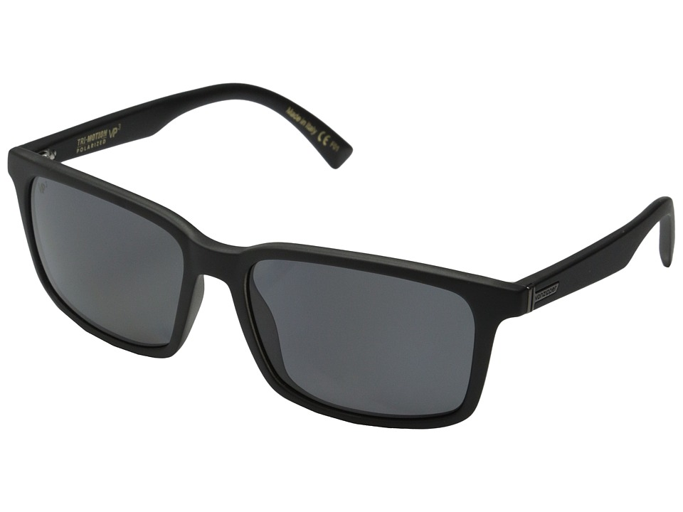 VonZipper - Pinch Polar (Black Smoke Satin/Grey Poly Polar) Sport Sunglasses