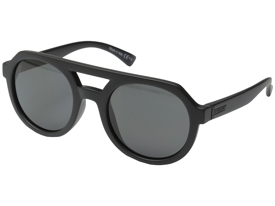 VonZipper - Psychwig (Black Satin/Grey) Sport Sunglasses
