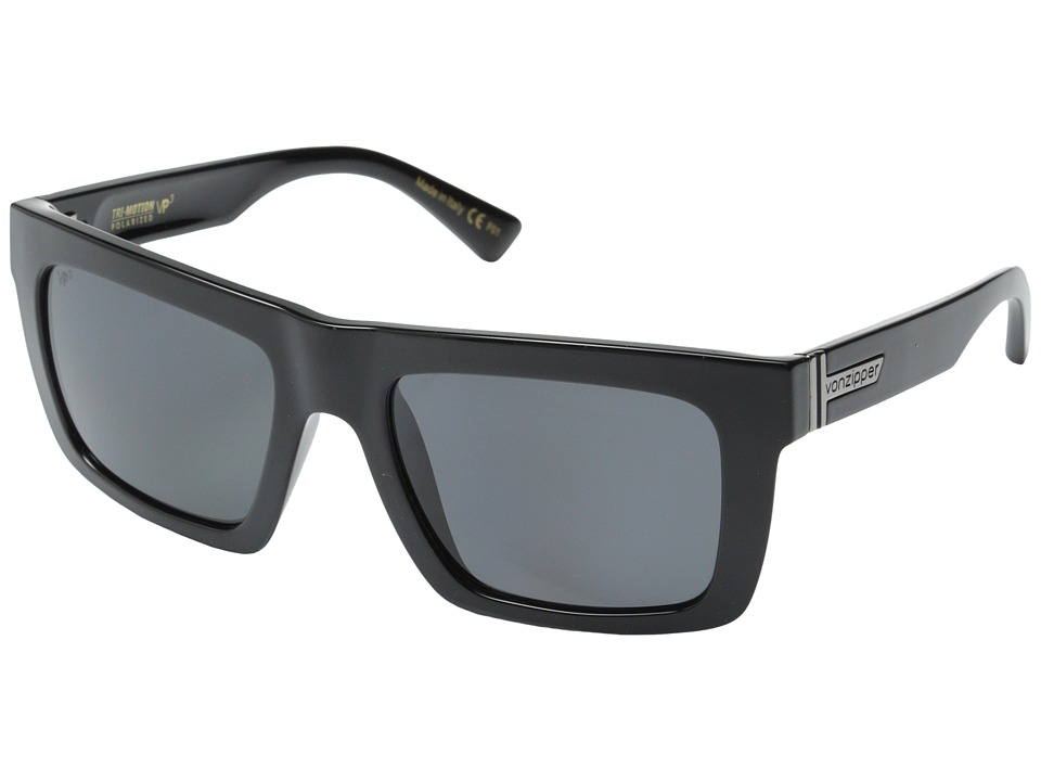 VonZipper - Donmega Polar (Black Gloss/Grey Poly Polar) Sport Sunglasses