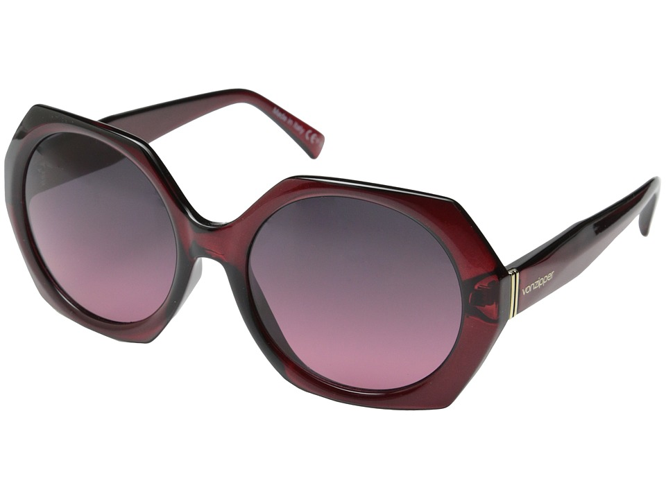 VonZipper - Buelah (Ruby Translucent/Grey Rose Gradient) Sport Sunglasses
