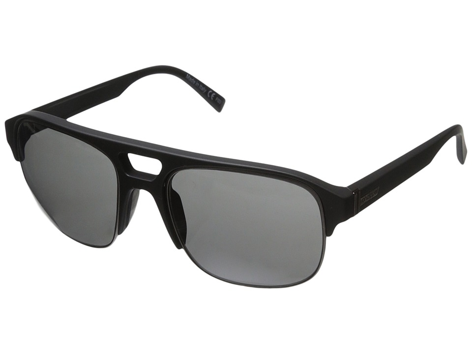 VonZipper - Supernacht (Black Satin Gunmetal/Grey) Sport Sunglasses