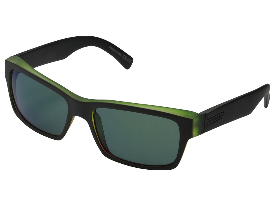 VonZipper - Fulton (Vibrations Black Satin/Quasar Eclipse) Plastic Frame Sport Sunglasses