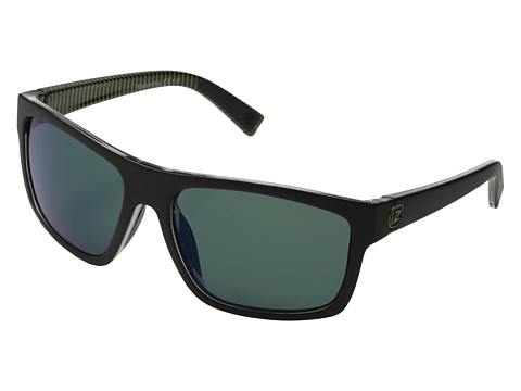 VonZipper - Speedtuck (Black Satin-Green Stripe/Quasar Eclipse) Sport Sunglasses