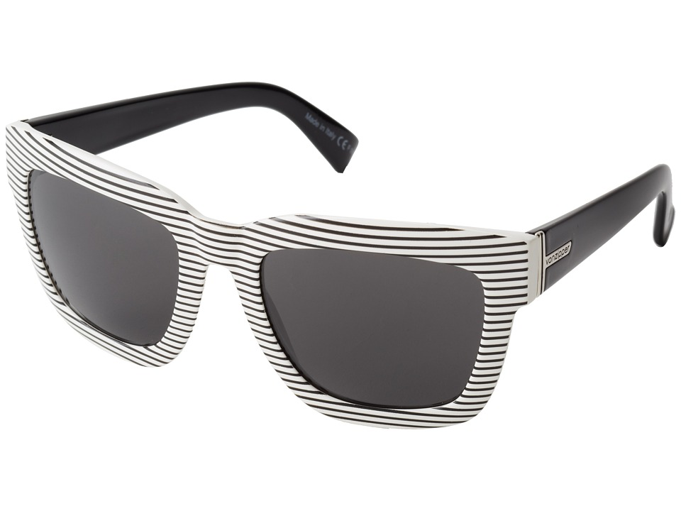 VonZipper - Juice (White Stripe White Black/Grey) Sport Sunglasses