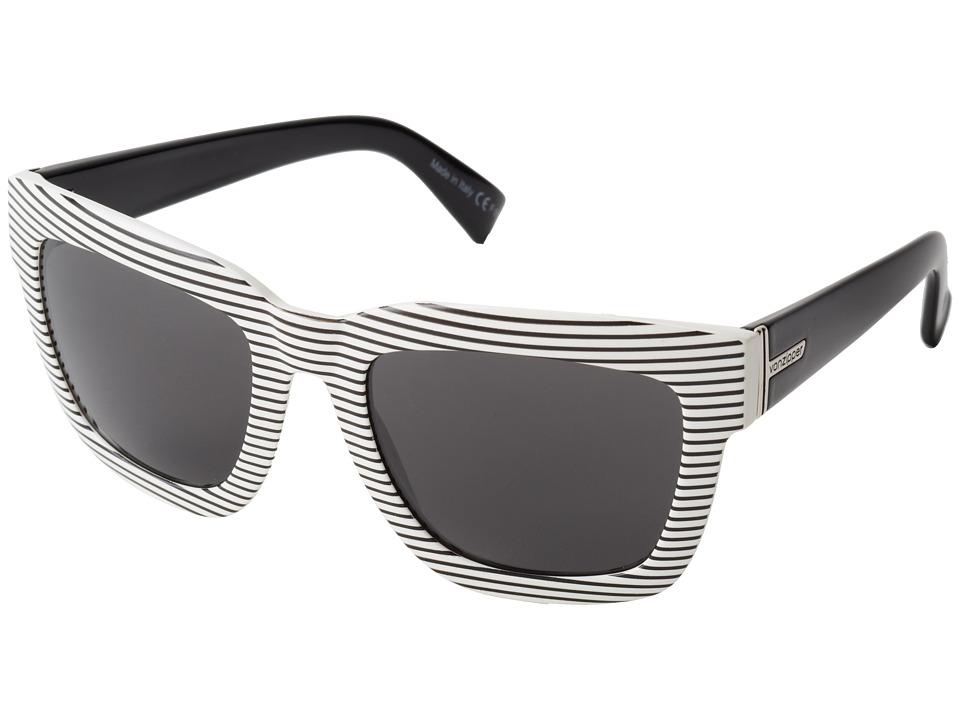 VonZipper - Juice (White Stripe White Black/Grey) Sport Sunglasses